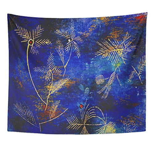 Semtomn Tapestry Artwork Wall Hanging Paul Klee Fairy Tales Abstract Bauhaus 60x80 Inches Tapestries Mattress Tablecloth Curtain Home Decor Print