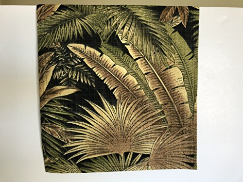 over Recliner Pad Headrest Furniture Protector Canvas Palm Tree Black Print Indoor Outdoor Upholstery14X30 Sofas Loveseats Theater Seating Chaises (Canvas Recliner)
