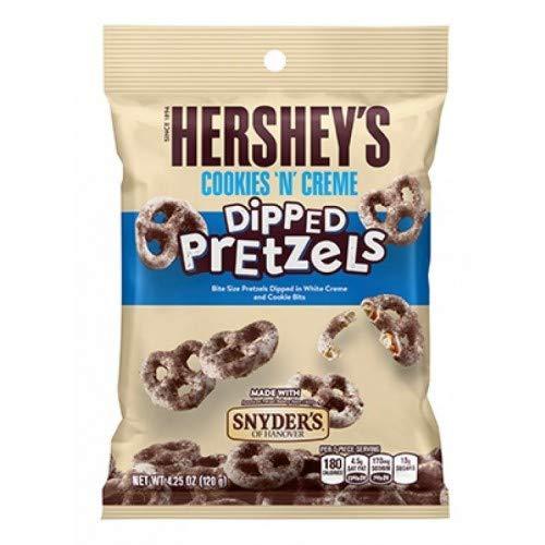 (Hershey's Cookies 'n' Cream dipped Pretzels)