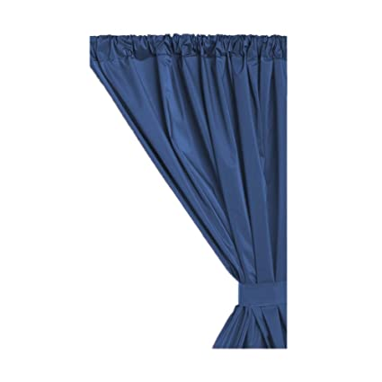 Carnation Home Fashions Vinyl Window Curtain In Navy