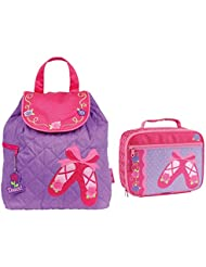 Stephen Joseph Quilted Ballet Shoes Backpack and Lunch Box Combo - Girls Book Bags
