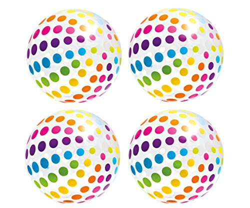 (Intex Jumbo Inflatable Big Panel Colorful Giant Beach Ball (Set of 4) |)