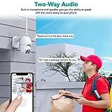 Security Camera Outdoor,Wansview 1080P Pan-Tilt