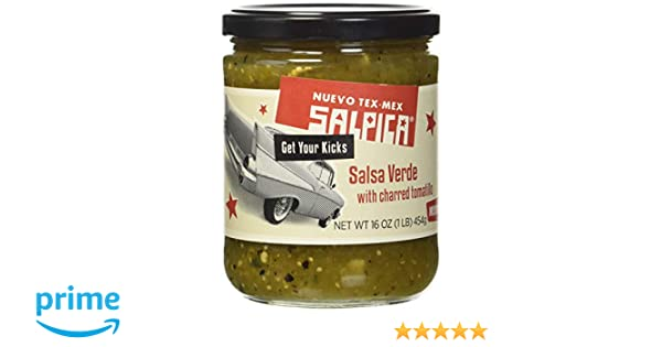 Salpica Salsa Verde with Charred Tomatillo, 16 Ounce - 6 per case.: Amazon.com: Grocery & Gourmet Food