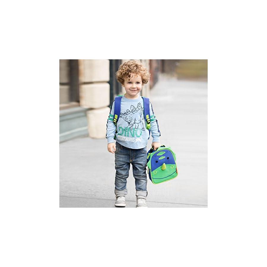 """Toddler Backpack, 12"""" Dinosaur School Bag, Multi"""