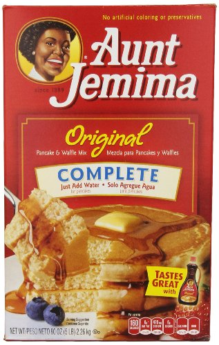Aunt Jemima Complete Pancake Mix, 5 Pound (Pack of 6)