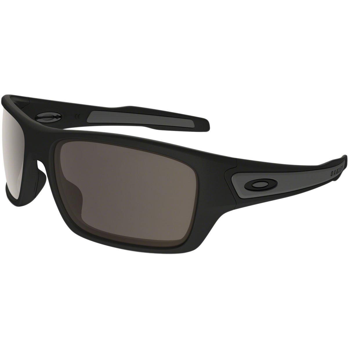 Oakley Men's OO9263 Turbine Rectangular Sunglasses, Matte Black/Warm Grey, 65 mm by Oakley