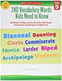 Scholastic 240 Vocabulary Words Kids Need To Know