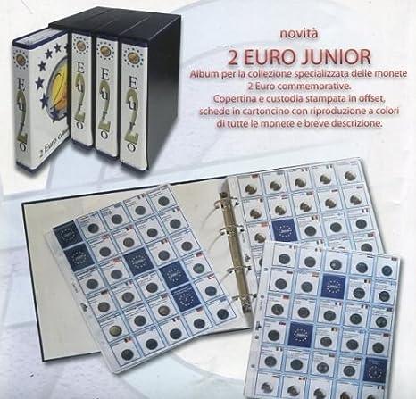 97a19b0411 MASTERPHIL Album 2 Euro Junior con Fogli dal 2004 al 2018: Amazon.it ...