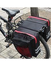 GGHKDD Cykel bagage rackväska, cykelväska väska för cyklar vattentät, dubbelväska cykel, bagage väska cykel