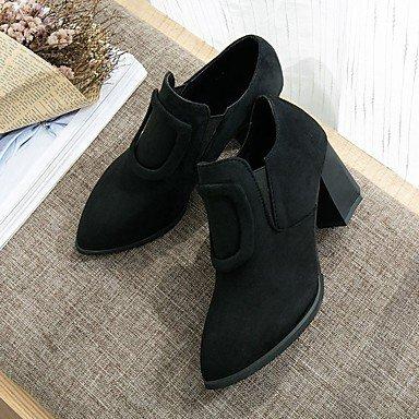 Botas Combate EU37 Señaló De Verde Ejército De Cuero Zapatos De 5 US6 Para Nubuck Botas Mujer Talón Toe Chunky Otoño RTRY Exterior 7 UK4 5 CN37 5 Negro A0gqwvOg