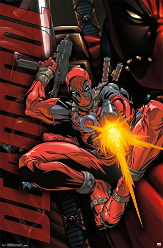 [Deadpool - Jump Poster 22 x 34in] (Marvel Colossus Costumes)