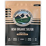 No Boundaries Health and Wellness MSM Organic Sulfur Supplement – Premium 99.9% Pure. No Fillers, Additives, Allergens, GMOs. Made in USA – World's purest, Fast dissolving, Great Antioxidant Defense