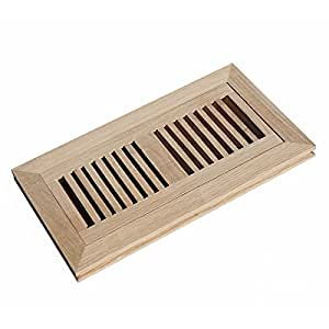 Welland 174 Wood Vent Cover Floor Register Louvered With