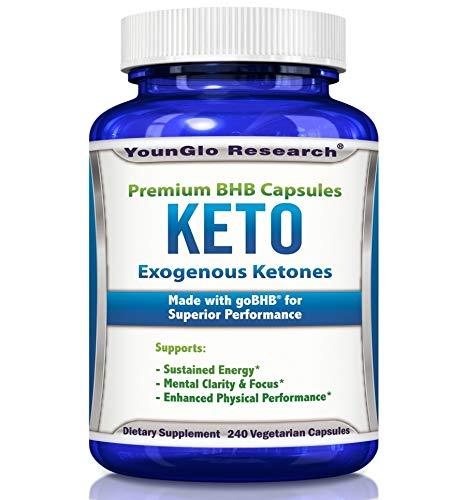 Exogenous Ketones Pills - Keto BHB Salts - 240 Capsules - 2400mg goBHB per Serving (1 Pack)