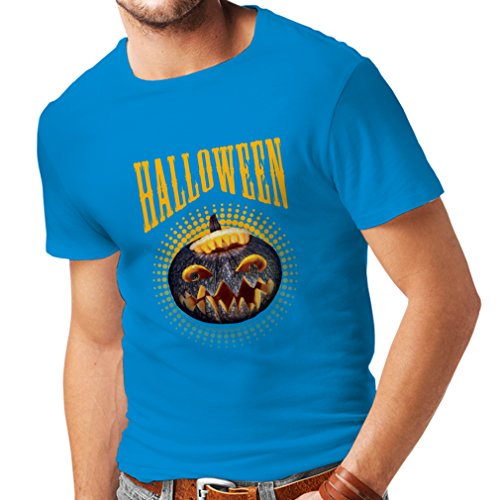 T Shirts for Men Halloween Pumpkin - Clever Costume Ideas 2017 (Small Blue Multi -