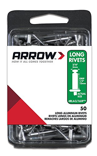 - Arrow Fastener RLA3/16IP Long Aluminum 3/16-Inch Rivet, 50-Pack