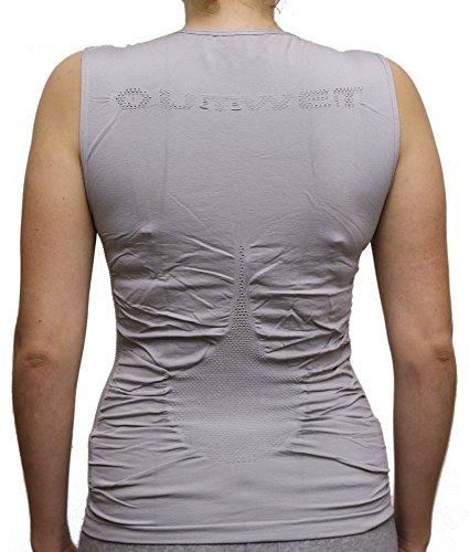 Outwet VE2640 Camiseta sin mangas, Mujer, Blanco, Talla Única Negro