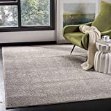Safavieh Meadow Collection MDW319A Ivory and Grey Area Rug (9′ x 12′)