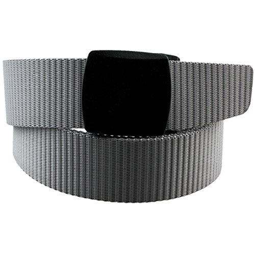 Grey Belt Buckle (Moonsix Nylon Belts for Men,Utility Military Tactical Duty Belt with Plastic Buckle, Grey, Style)