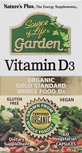 Plus Source de la nature de la vie Jardin vitamine D3 - 60 Vegetarian Capsules