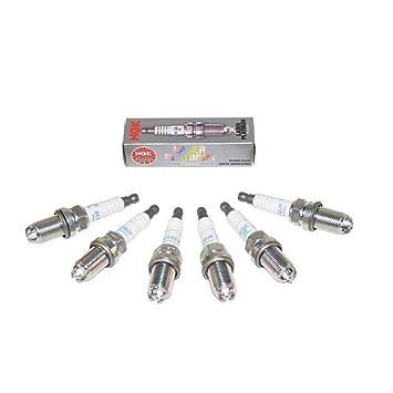 NGK - Juego de bujías Laser Platinum 3199 originales, 6 unidades: Amazon.es: Coche y moto