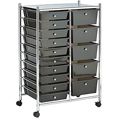 vonhaus-black-15-drawer-organizer