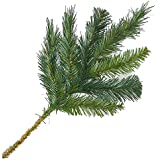 Factory Direct Craft Artificial Evergreen Pine Picks for Holiday Decorating - 12 Picks