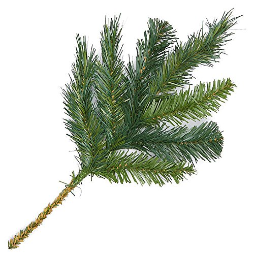Factory Direct Craft Artificial Evergreen Pine Picks for Holiday Decorating - 12 Picks - Needle Pine Pick