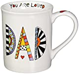 "Our Name is Mud ""Loved Dad"" Cuppa Doodle Porcelain Mug, 16 oz."