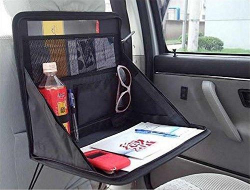 Auto-Rücksitztasche, Rücksitz-Organizer, Faltbare Auto Regale ToullGo® Utensilien-Tasche - Halter für DVD Players, Tablets, Multimedia, Kinderwagen-Organiser, Reise- oder Travel-Organiser (Schwarz02)