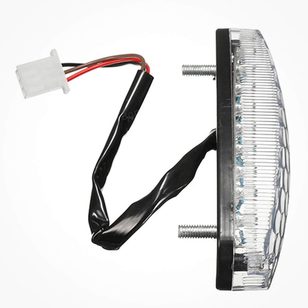 CLIUS Feu arri/è Moto LED Moto Accessoires Lumi/è Frein 3 Fils Facile Installer Avertissement S/écurit/é Lampe Arri/è /Étanche Durable 12 V DIY