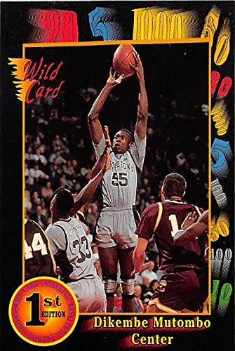 watch 70830 d5bf1 Dikembe Mutombo basketball card (Georgetown Hoyas NCAA) 1992 ...