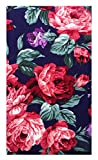 Purple Roses Cotton Guest Check Presenter, Check Book Holder for Restaurant, Checkbook Cover, Check Pad Holder, Waitstaff Organizer, Server Book for Waitress / Waiters with Money Pocket U