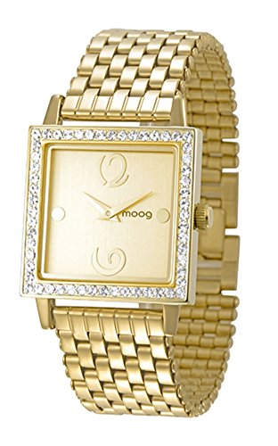 Moog Paris Twisted Women's Watch with Champagne Dial, Gold Stainless Steel Strap & Swarovski Elements - M45604-003
