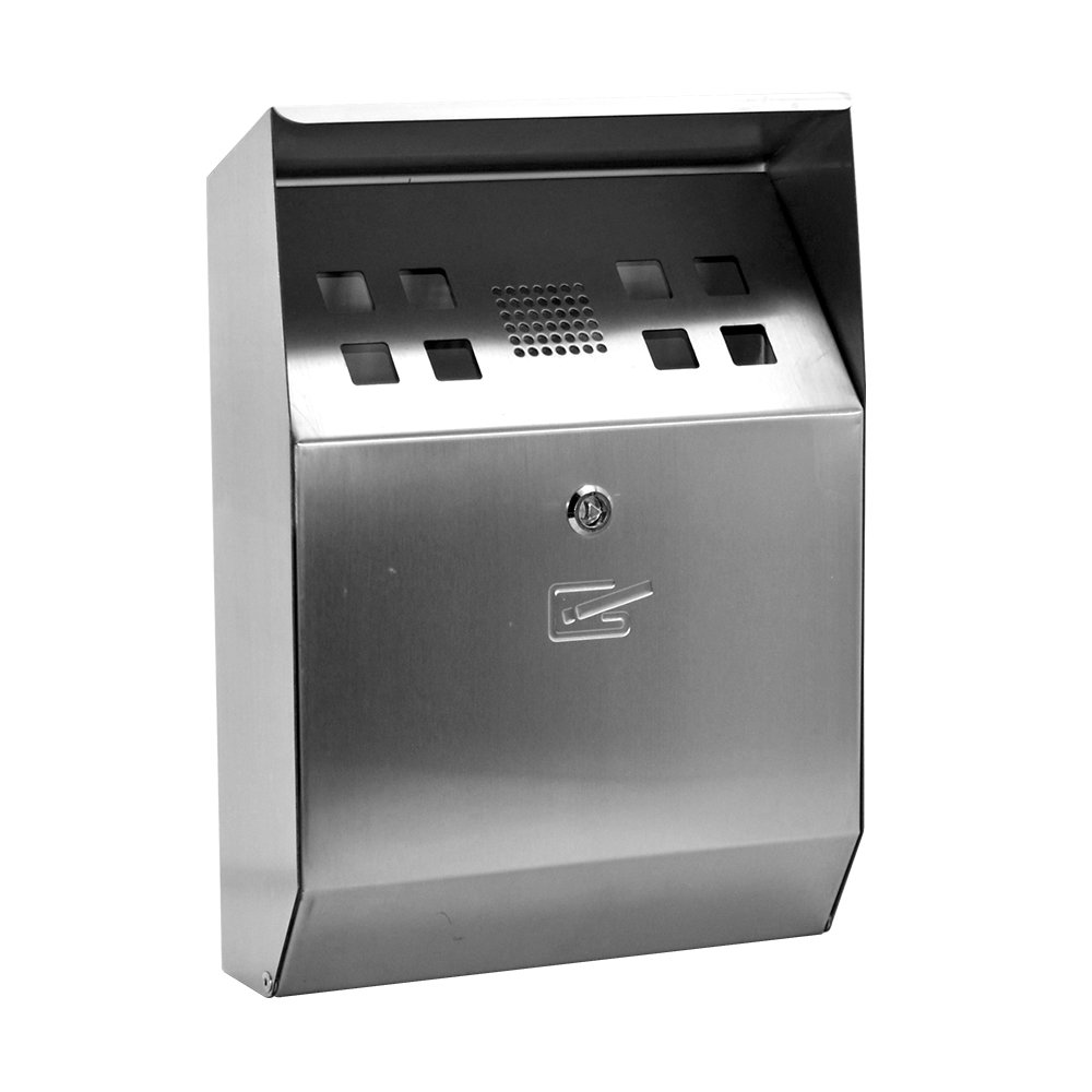 Cigarette bin,stainless steel,wall mounted,Ashtray