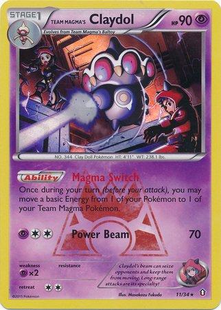 (Pokemon - Team Magma39;s Claydol (11/34) - Double Crisis - Holo)