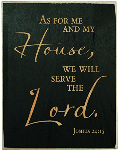 "Me And My House Will Serve The Lord Joshua 24:15 Laser Engraved 7×9 Inch Plaque with Bible Inspirational Verse Christian Religious ""Lord God Jesus Christ Religion"" Sign"