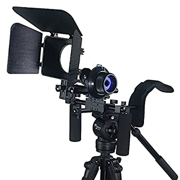 JRFOTO DSLR RIG With Follow Focus Matte Box And Counterweight By New Model JRFOTO FL02M Tripod & Monopod Accessories at amazon