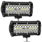 Leoie 2pcs 6 inch 120W High Power LED Strip Lights Off-Car Top Refit Light Bar Working Lamp