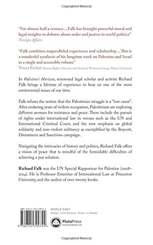 Palestines Horizon Toward A Just Peace Richard Falk  Palestines Horizon Toward A Just Peace Richard Falk   Amazoncom Books