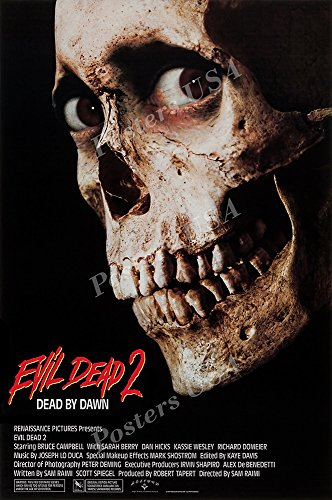 "PremiumPrints - Evil Dead 2 Dead by Dawn Movie Poster - XFIL862 Premium Canvas 11"" x 17"" (28 cm x 43 cm)"