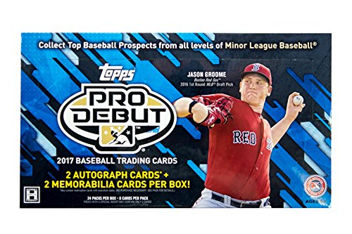 2017-topps-pro-debut-baseball-hobby-box-24-packs-of-8-cards-2-autographs-and-2-relics