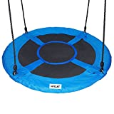 HYCLAT Durable Strong Blue 40'' Saucer Tree Swing Outdoor and Indoor Activity