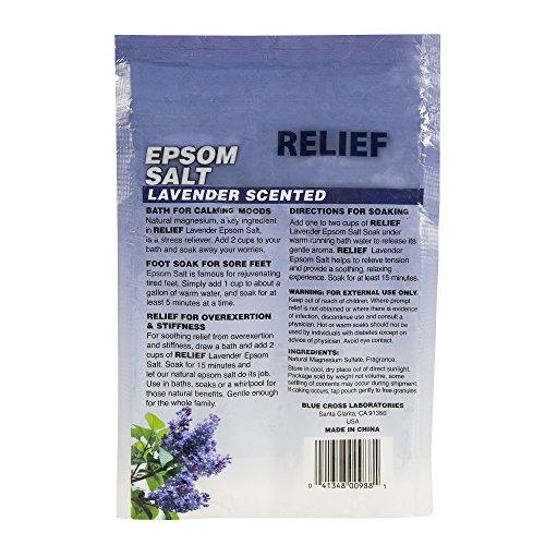 Relief Epsom Salt Lavender - Calming & Relaxing Soak, 16 oz,(Blue Cross Laboratories)