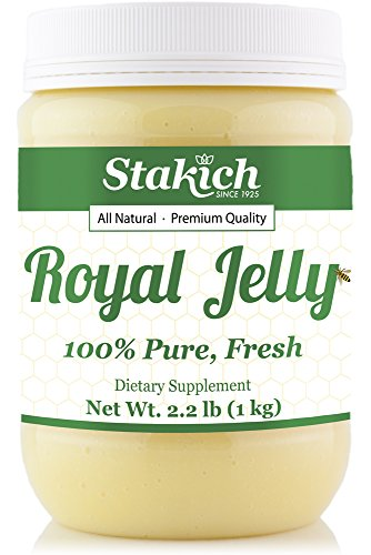 Stakich FRESH ROYAL JELLY 1 KG (2.2-LB) - 100% Pure, All Natural, Top Quality - - Raw Royal Jelly