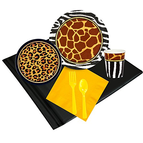 Safari Adventure Party Childrens Birthday Party Supplies - Tableware Party Pack (24) -