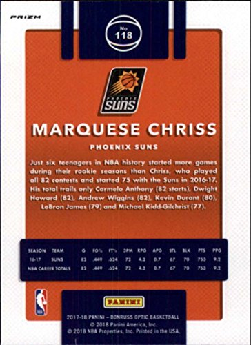 Amazon.com: 2017-18 Donruss Optic Holo Prizm Blue Velocity #118 Marquese Chriss Suns: Collectibles & Fine Art