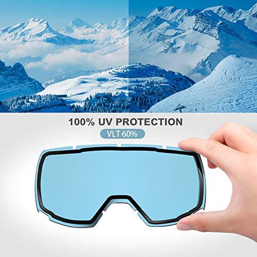 d4007421ad8 OutdoorMaster OTG Ski Goggles - Over Glasses Ski   Snowboard Goggles for  Men