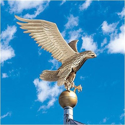 Whitehall Products Flagpole Eagle, Large, Gold/Bronze